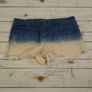 Forever 21 Ombre Cutoff Jean Shorts